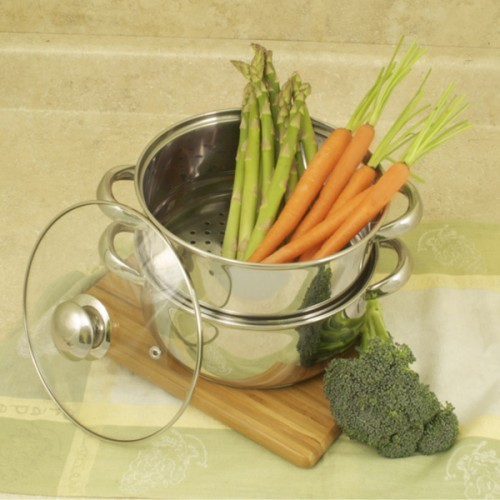 All-in-One Stainless 3-quart Steamer and Sauce Pot