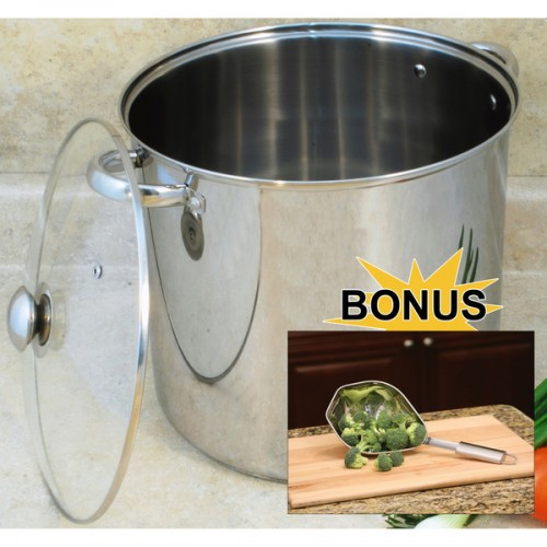 8-quart Stockpot with Encapsulated Base and Scoop Colander Set