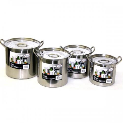 Alpine Stainless Steel Big 8-piece Stock Pot Set