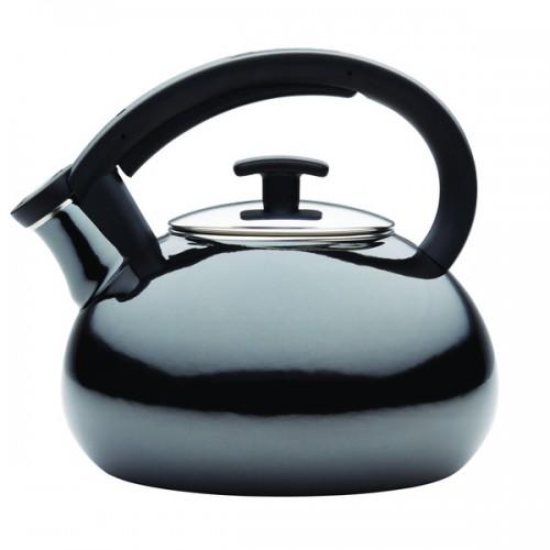 Anolon(r) Allume(tm) Teakettles 2-Quart Enamel on Steel Teakettle, Onyx