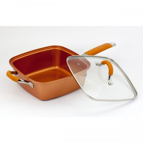 As Seen on TV 5-piece Square Copper Pan Pro Set