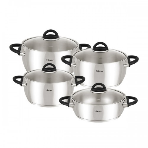 Bahama 8-Piece Stainless Steel Cookware Set (Black)