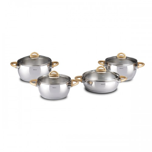 Bahama 8-piece Gold Stainless Steel Cookware Set