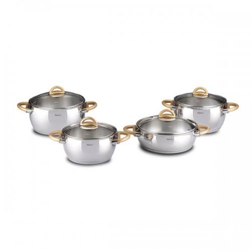 Bahama Golden 9-piece Stainless Steel Non-stick Cookware Set