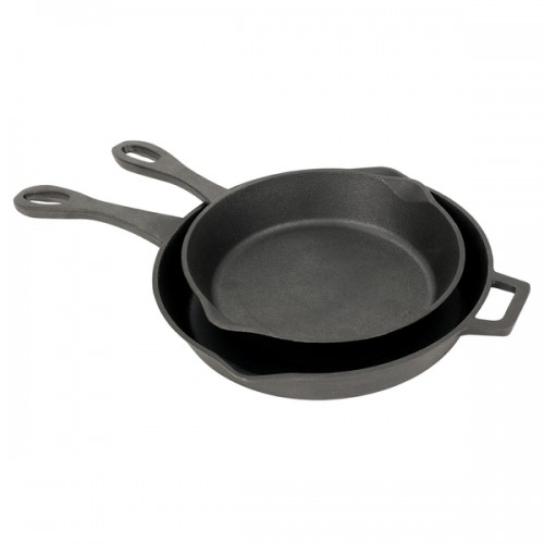 Bayou Classic Cast Iron 2-piece Cast Iron Skillet Set