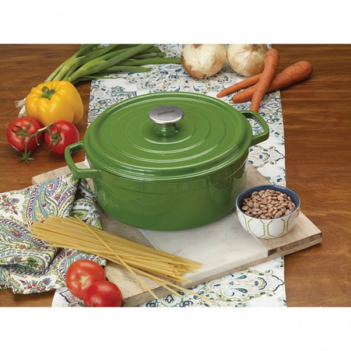 Bayou Classic Green Cast Iron 5-quart Enameled Dutch Oven