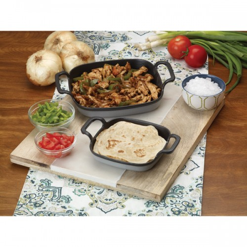 Bayou Classic Grey Cast Iron 6-inch Enameled Baking Dish