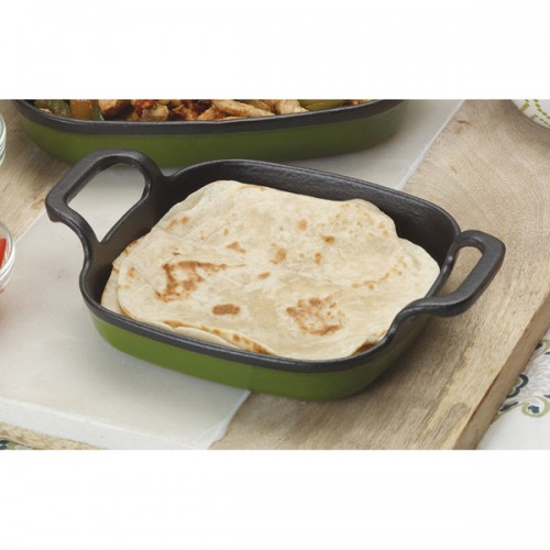 Bayou Classic Green Cast Iron 8.5-inch Enameled Baking Dish