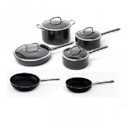 Berghoff EarthChef Boreal Black Aluminum Nonstick 10-piece Cookware Set