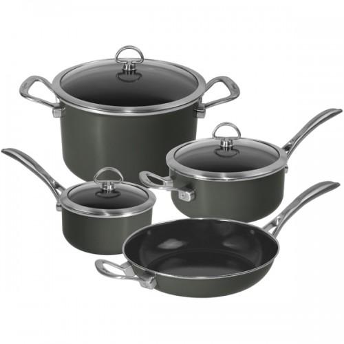Chantal 80-7-ME Onyx Black 7-piece Copper Fusion Cookware Set