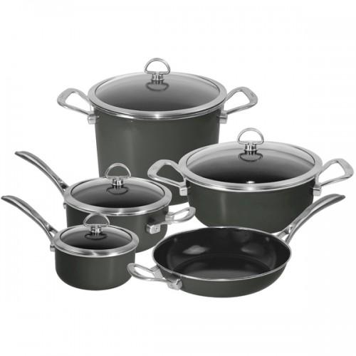 Chantal Onyx Black 9-piece Copper Fusion Cookware Set