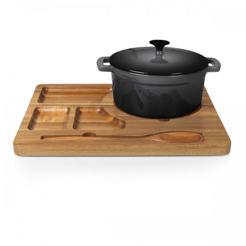 Acacia Wood Dutch Oven Station