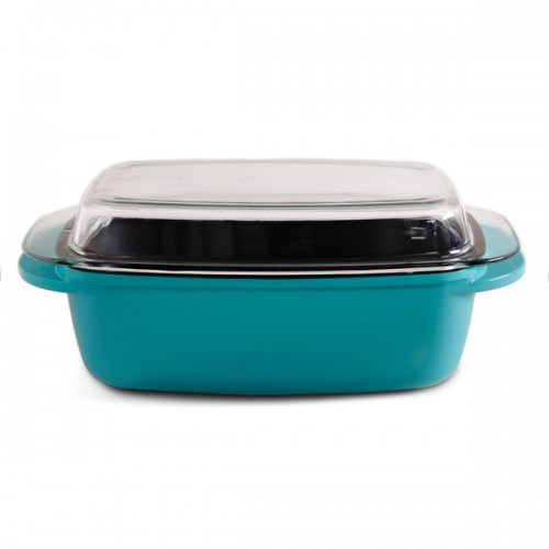 Gibson Cast Aluminum Turquoise Roster 6.2 Qt