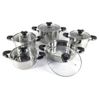 10 Piece Stainless Steel Cookware Set