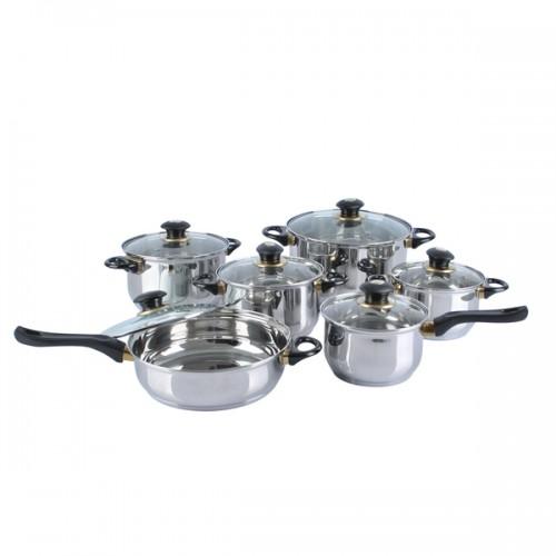 12-piece Heavy Gauge Stainless Steel Jumbo Cookware Set