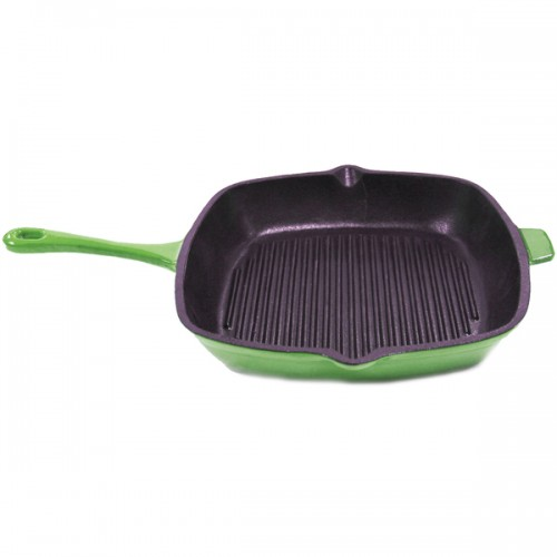 Neo 11-inch Green Cast Iron Grill Pan
