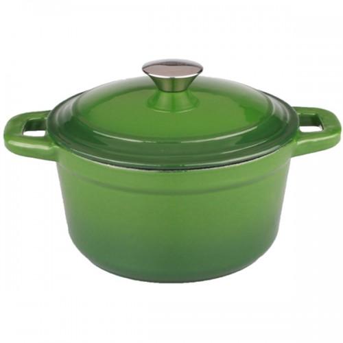 Neo 3-quart Green Cast Iron Round Covered Dutch Oven