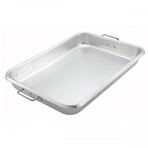 "FortheChef Aluminum Baking and Roasting Pan, 25-3/4"" x 17-3/4"" x 3-1/2"""
